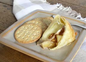 Baked Brie with Apples and Pecans Recipe