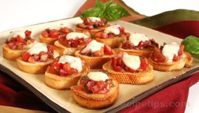 bruschetta with tomato and mozzarella Recipe