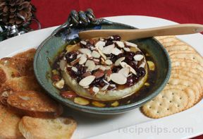 Cherry Almond Baked Brie