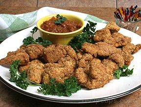Chicken Nuggets with Chili Sauce