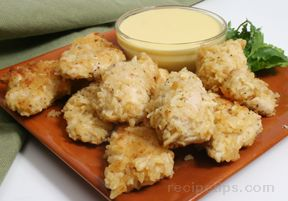 Chicken Nuggets with Honey Mustard Dipping Sauce