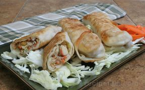 Chicken and Vegetable Egg Roll