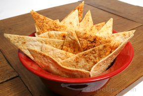 chili tortilla crisps Recipe