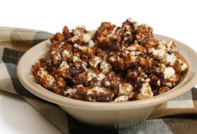 chocolate caramel popcorn Recipe