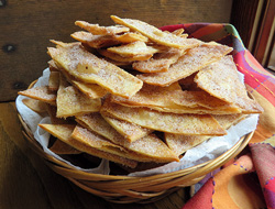 cinnamon and sugar tortilla chips Recipe