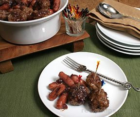 Cranberry Meatballs and Sausage Recipe