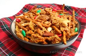 Easy Holiday Chex Mix