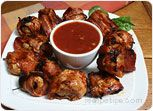 Bacon Wrapped Mushrooms with Barbecue Sauce Recipe