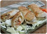 Chicken and Vegetable Egg Roll Recipe