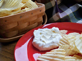 garlic chip dip Recipe