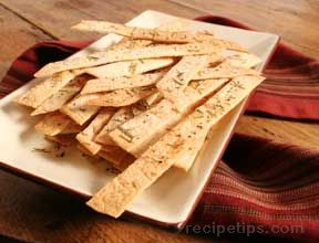 Flour Tortilla Crisps with Garlic