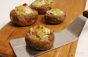 Goat Cheese and Herb Stuffed Mushroom
