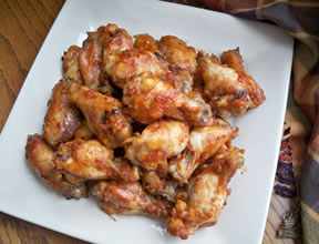 maple glazed chili chicken wings Recipe