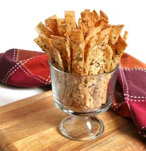 Corn Tortilla Crisps with Parmesan