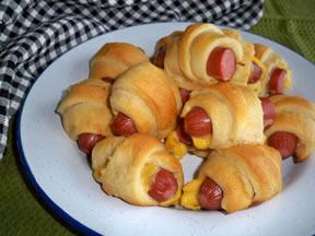 Pigs in a Blanket Wrapped with Cheese