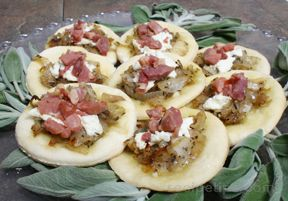Prosciutto Goat Cheese Pizettes Recipe