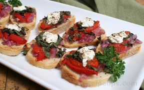 Red Pepper and Basil Bruschetta
