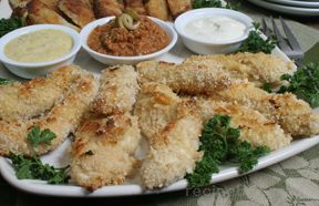 Sesame Baked Chicken Strips Recipe