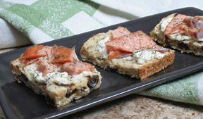 smoked salmon on irish soda bread Recipe