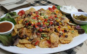 Spicy Shredded Pork Nachos