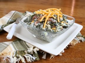Spinach Dip with Bacon and Cheese