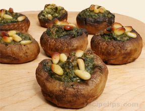 Spinach and Lemon Stuffed Mushroom