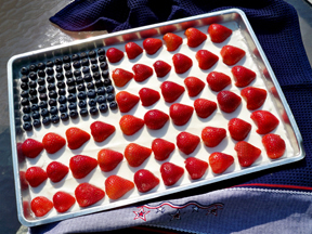 stars and stripes fruit dip Recipe