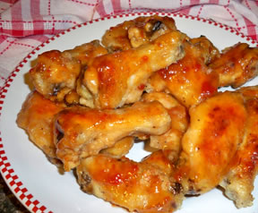 Sweet and Sour Chicken Wings with Pineapple Juice