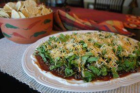 Layered Taco Dip with Beef