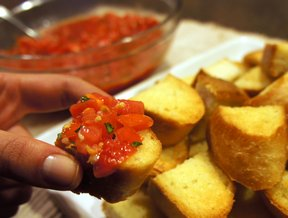tomato garlic basil bruschetta Recipe