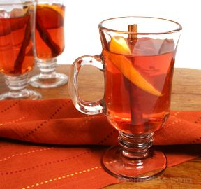 Hot Spiced Cider and Cranberry Juice Recipe - RecipeTips.com