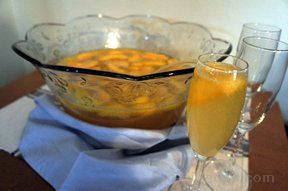 peach champagne punch Recipe