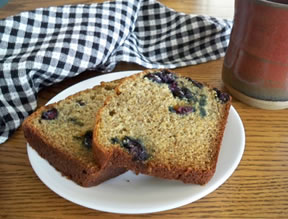 Banana Bread with Fresh Blueberries