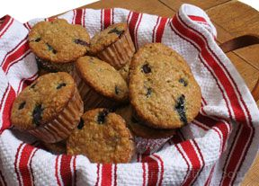 Blueberry Buttermilk Oat Muffins