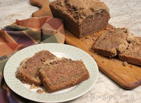 Zucchini Bread with Crumble Topping Recipe