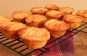 Cheesy Apple Muffins - Glazed
