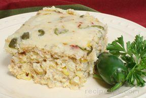 jalapeno cheese cornbread pudding Recipe