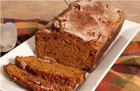 Pumpkin and Raisin Nut Bread Recipe