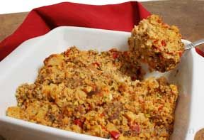 Southwestern Style Cornbread and Sausage Stuffing