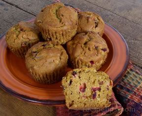 sweet squash and cranberry muffins Recipe