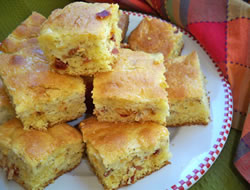 tomato and bacon corn bread Recipe