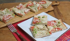 flatbread with white bean and edamame spread Recipe