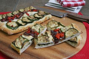 Zucchini Red Onion and Pepper Flatbread