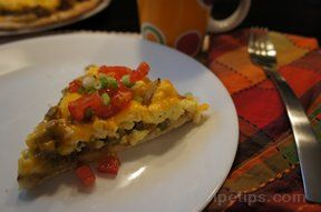 Breakfast Pizza with Scrambled Eggs and Bacon Recipe