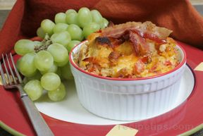 Cheddar Bacon Egg Bake Recipe
