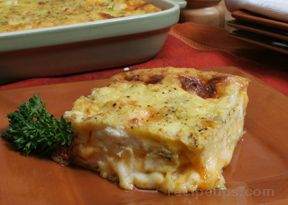 Cheese and Chile Egg Bake Recipe