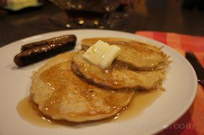 Dutch Apple Pancakes with Maple Flavored Honey