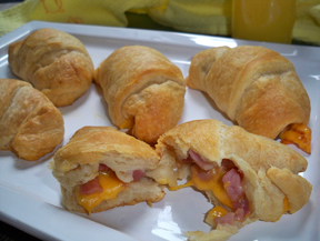 Ham and Cheese Crescent Roll Ups