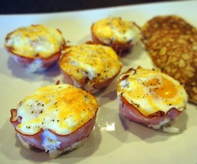 ham and egg breakfast cups Recipe