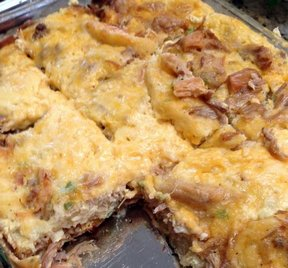 pulled pork egg bake Recipe